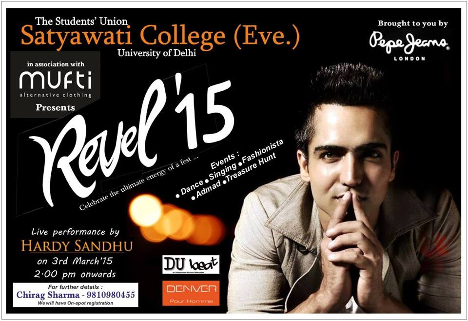 Hardy sandhu Live At Revel 15 In Satyawati college At DU 3 March 2015