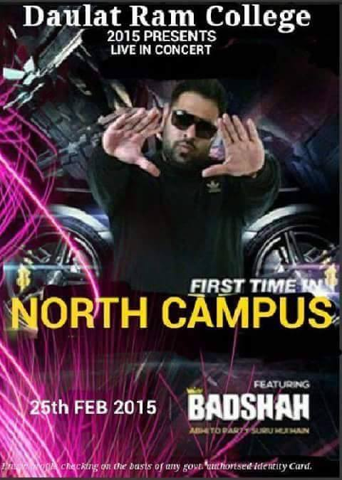 Badshah Live Performance In Daulat Ram College At 25 Feb 2015 - North Campus