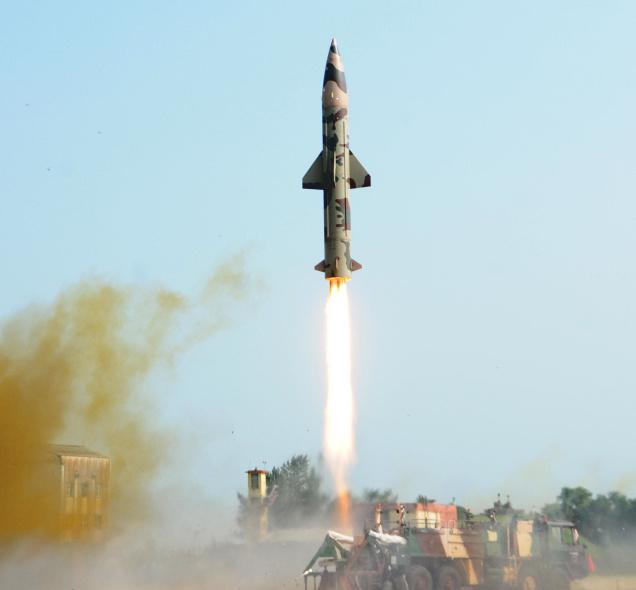 India's Prithvi-II nuclear capable Missile test fired Succesfull in Odisha