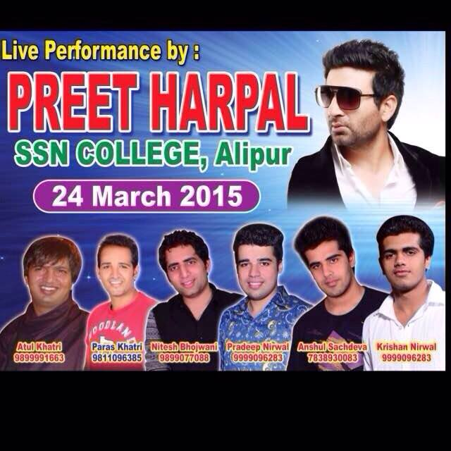 Preet Harpal Live Performance In SSN College At DU 24 March 2015