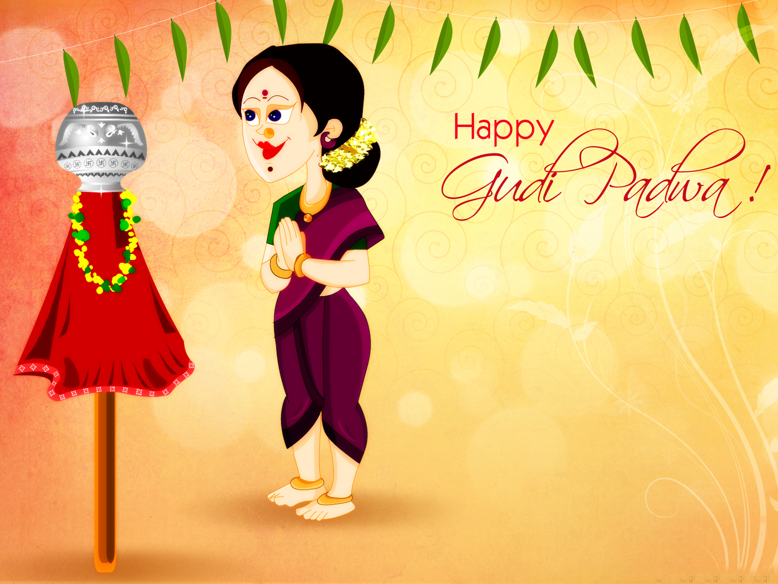 Happy Gudi Padwa 2019 Hd Wallpapers Fb Images Pictures