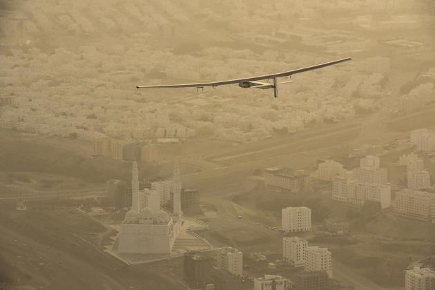 Zero Fuel Solar Plane on World Tour Struck into Ahmedabad India