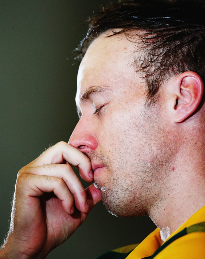 RSA Caption AB D Villiers said 'Its Hurting' after loosing against NZ