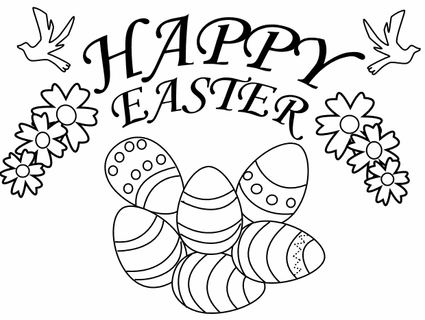 Happy Easter Day Colouring Printable Crafts