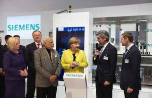 PM Modi Visits Siemens Facility In Berlin, Germany