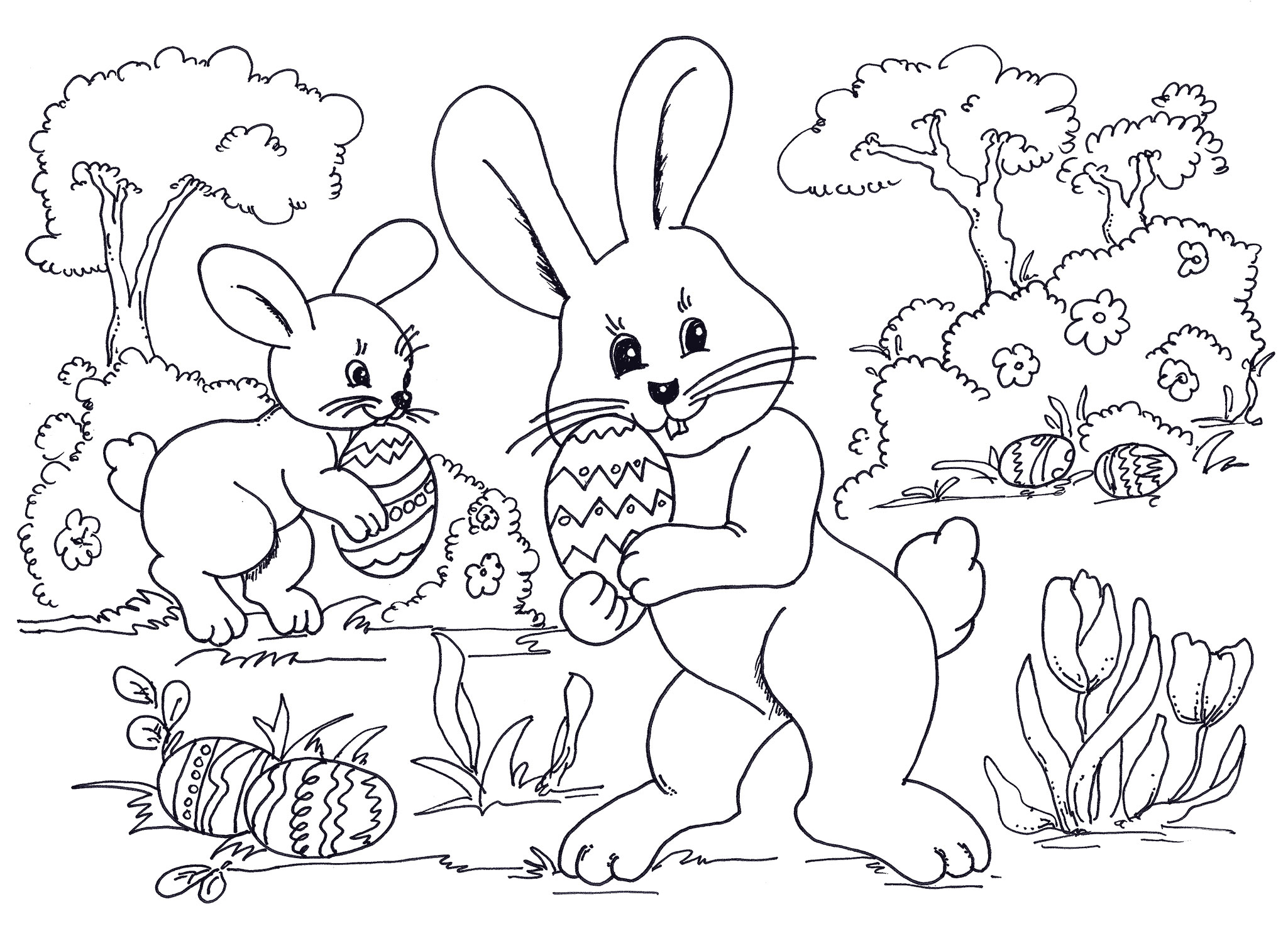 Easter Coloring In Sheets : Pics photos print free easter coloring pages