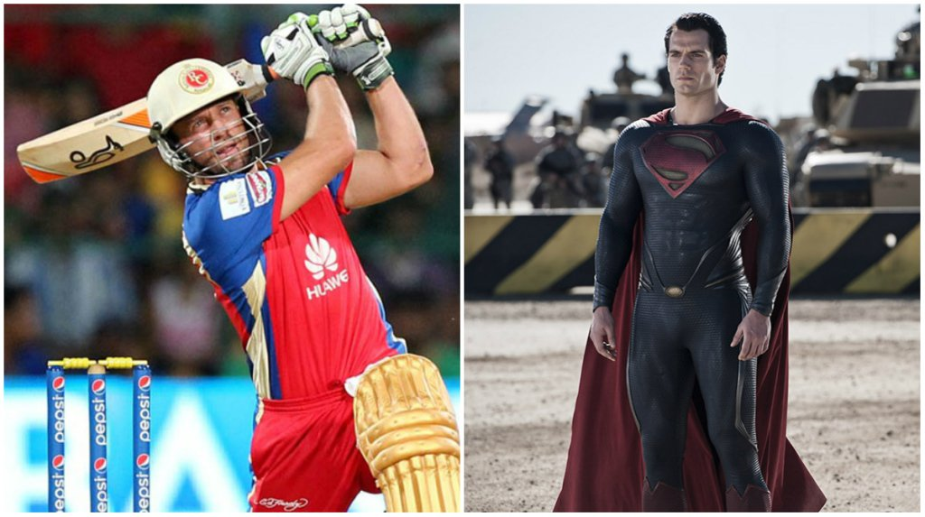 AB De Villiers (RCB) as Superman