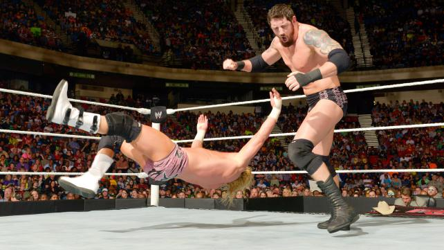 WWE King Of the Ring 2015 Elimination Bad News Barrett vs. Dolph Ziggler