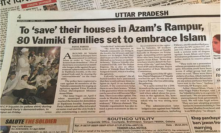 80 Valmiki Families Adopt Islam & Save Their House In Rampur
