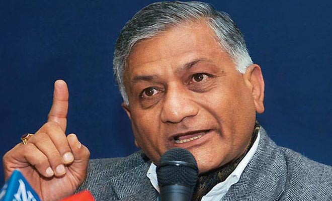 V K Singh Apologize To Media For His Tweet 'Presstitutes'