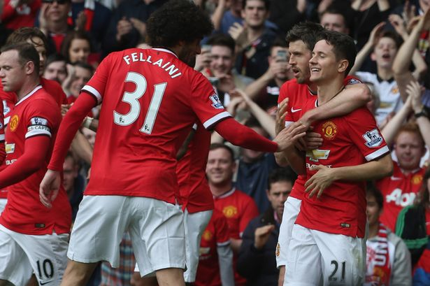 Manchester United F.C Club Defeats Aston Villa, 3-1 At Old Trafford