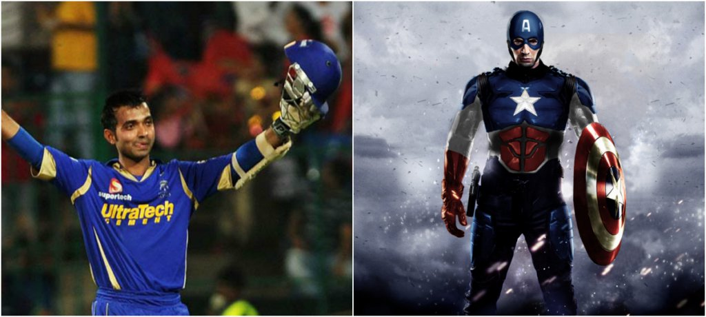 Ajinkya Rahane (RR) as Captain America