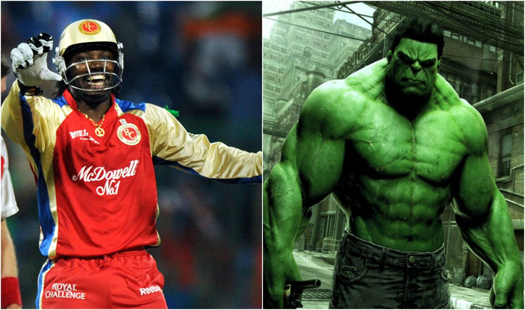 Chris Gayle (RCB) as The Hulk