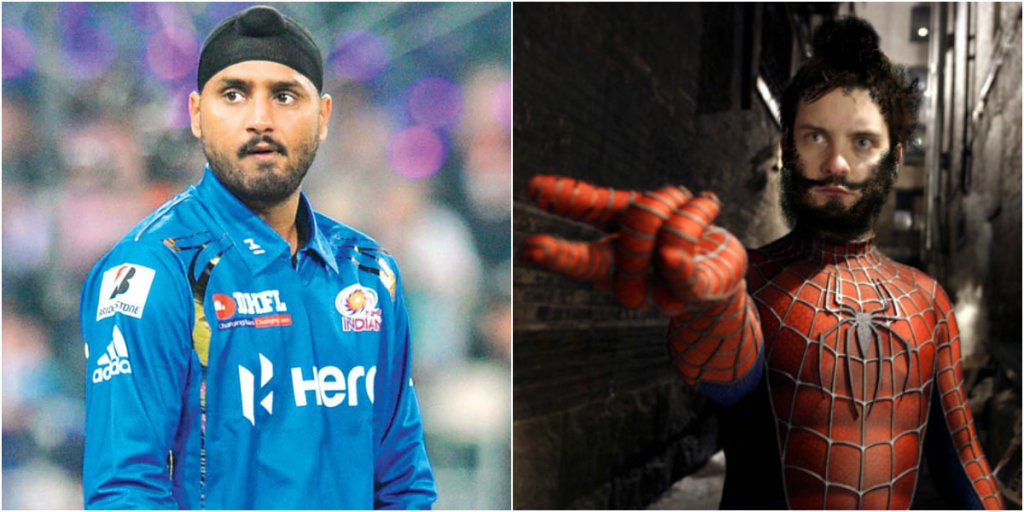 Harbhajan Singh (MI) as Spiderman