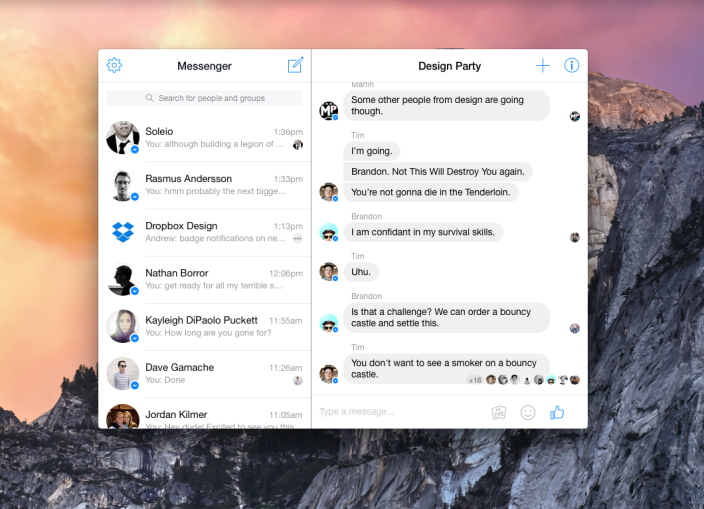 Facebook Messenger Web Version Launched For PC