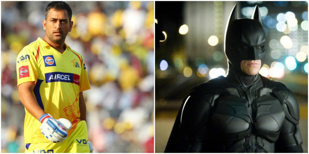 MS Dhoni (CSK) as Batman