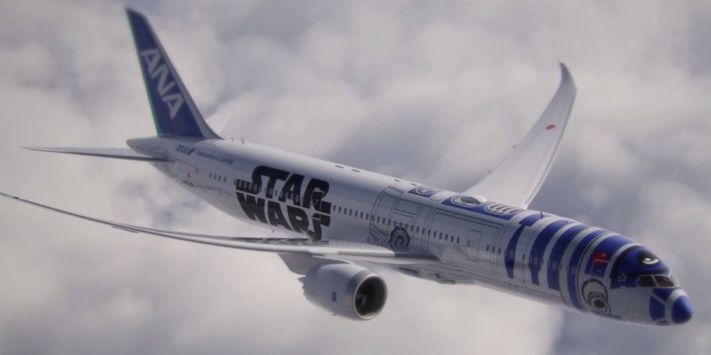 All Nippon Airways Announces Plans to Introduce Jet Painted Like R2-D2 Star Wars