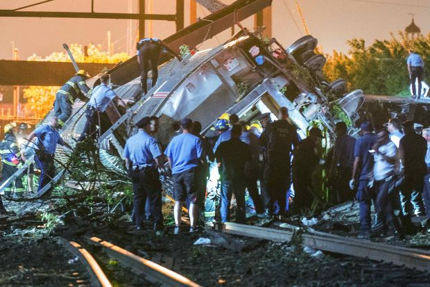 At Least 5 Killed and 50 Injured After Amtrak Train Derails in Philadelphia