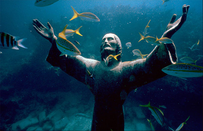 Christ of the Abyss – San Fruttuoso, Italy