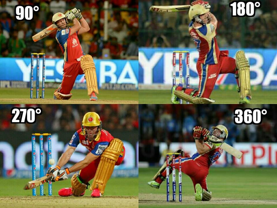 IPL 8 Fastest Century 2015 AB De Villiers 133 Runs Video ...