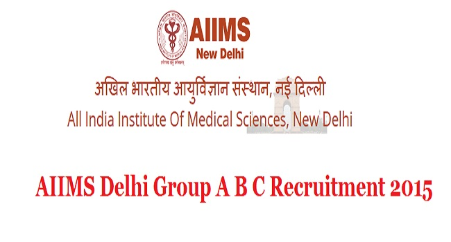 Delhi-AIIMS-Recruitment-2015