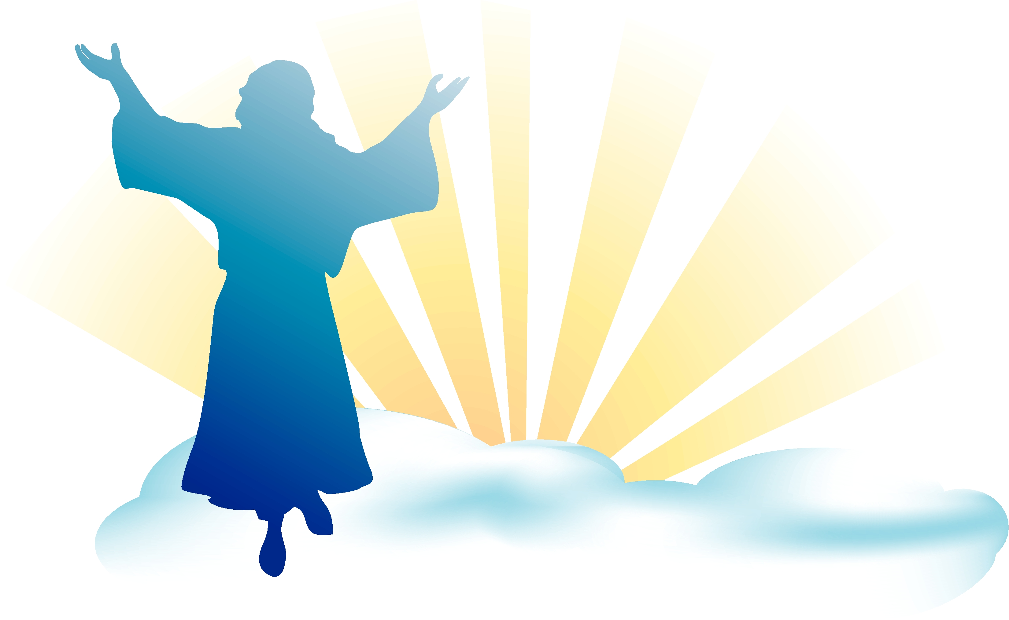 clipart of jesus ascending to heaven - photo #14