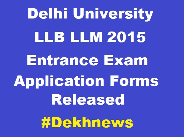 DU-LLB-LLM-2015-Application-Form
