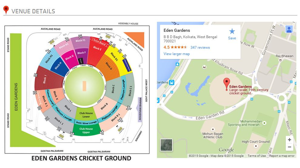 IPL 8 Final Match venue