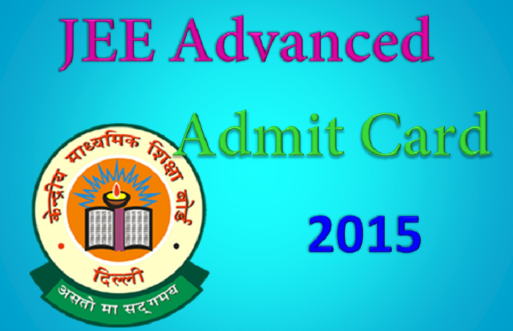 JEE Advance Admit Card Hall Ticket 2015 MAY 11 2015