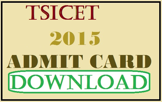 Telangana TSICET Admit Card Hall Ticket 2015 at tsicet.org