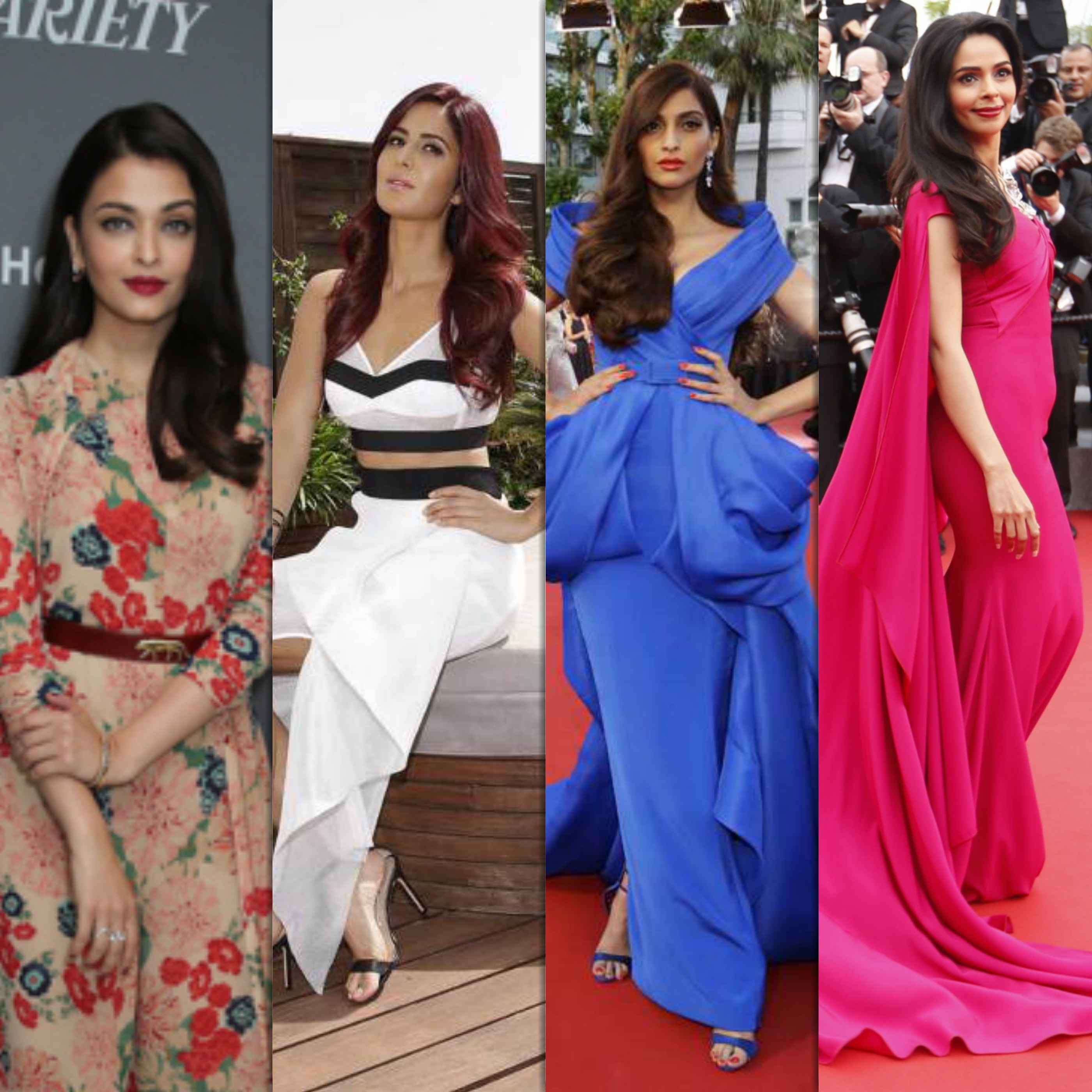 Cannes Film Festival 2015 : Bollywood Celebs on Red Carpet Dresses Outfit