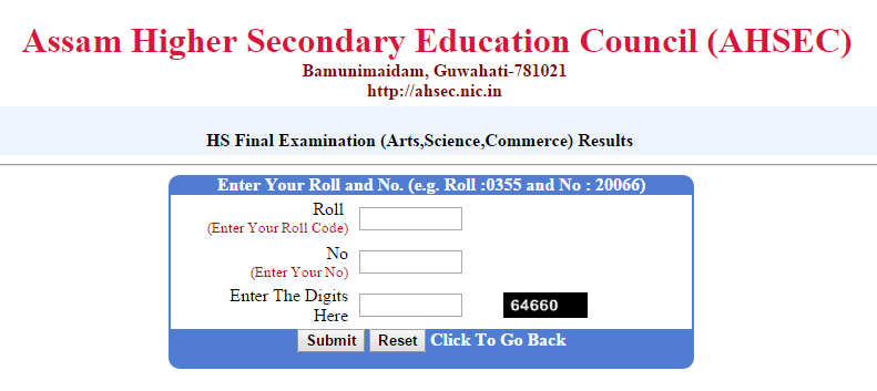 AHSEC 12th Class HSC Exam Result Date Timings 2015 www.ahsec.nic.in