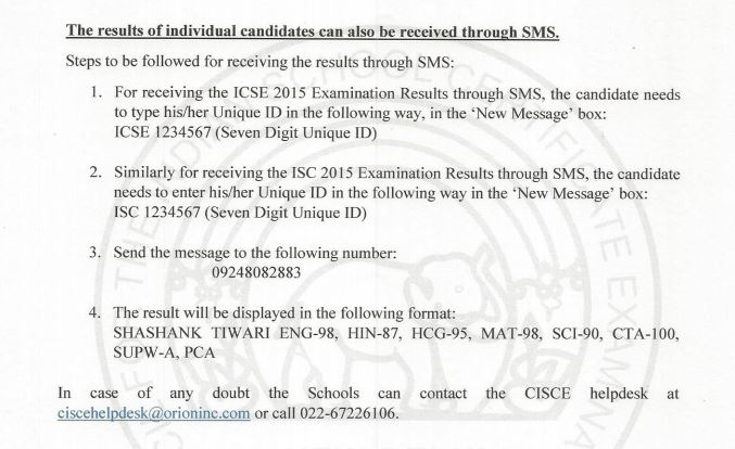 ICSE class 10 th X exam results 2015 to be declared today at 11:30 AM CISCE Board ICSE 10th Results 2015 CISCE.org