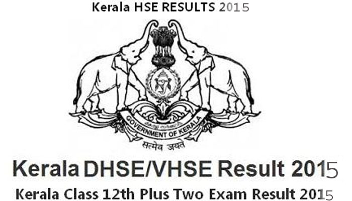 Kerala HSE Plus +2 Two Result 2015 keralaresults.nic.in Date Time