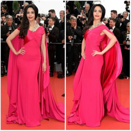 Mallika Sherawat Dress on Red Carpet