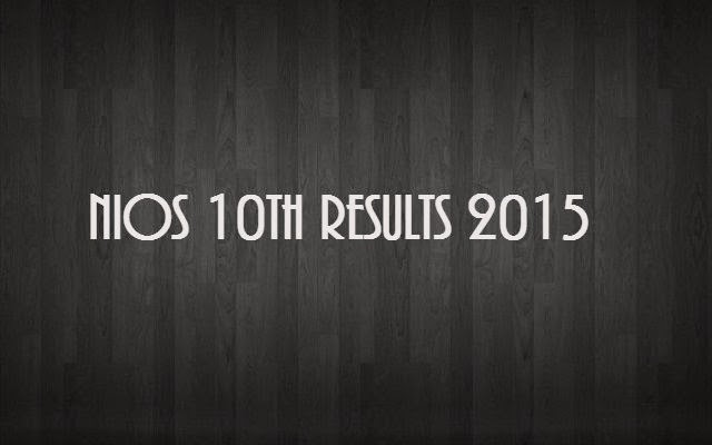 NIOS 10th & 12th Class Examination Result 2015 Date Time www.nios.ac.in