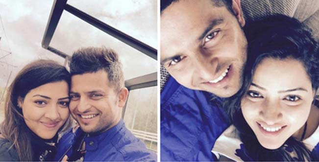 Raina tweets Honeymoon Selfie with wife Priyanka