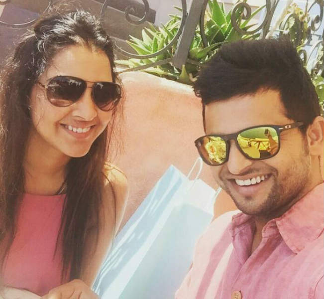 Raina tweets Honeymoon Selfie with wife Priyank