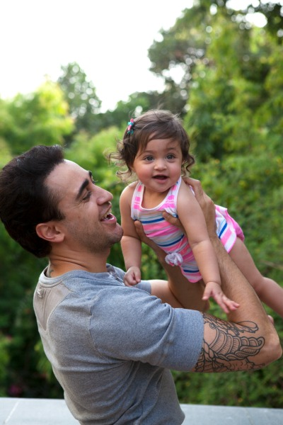 Imran With His Daughter