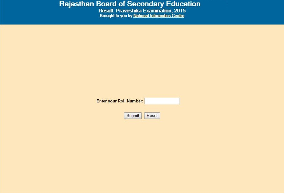 Rajasthan RBSE 8th Class Result 2015 Declared Date