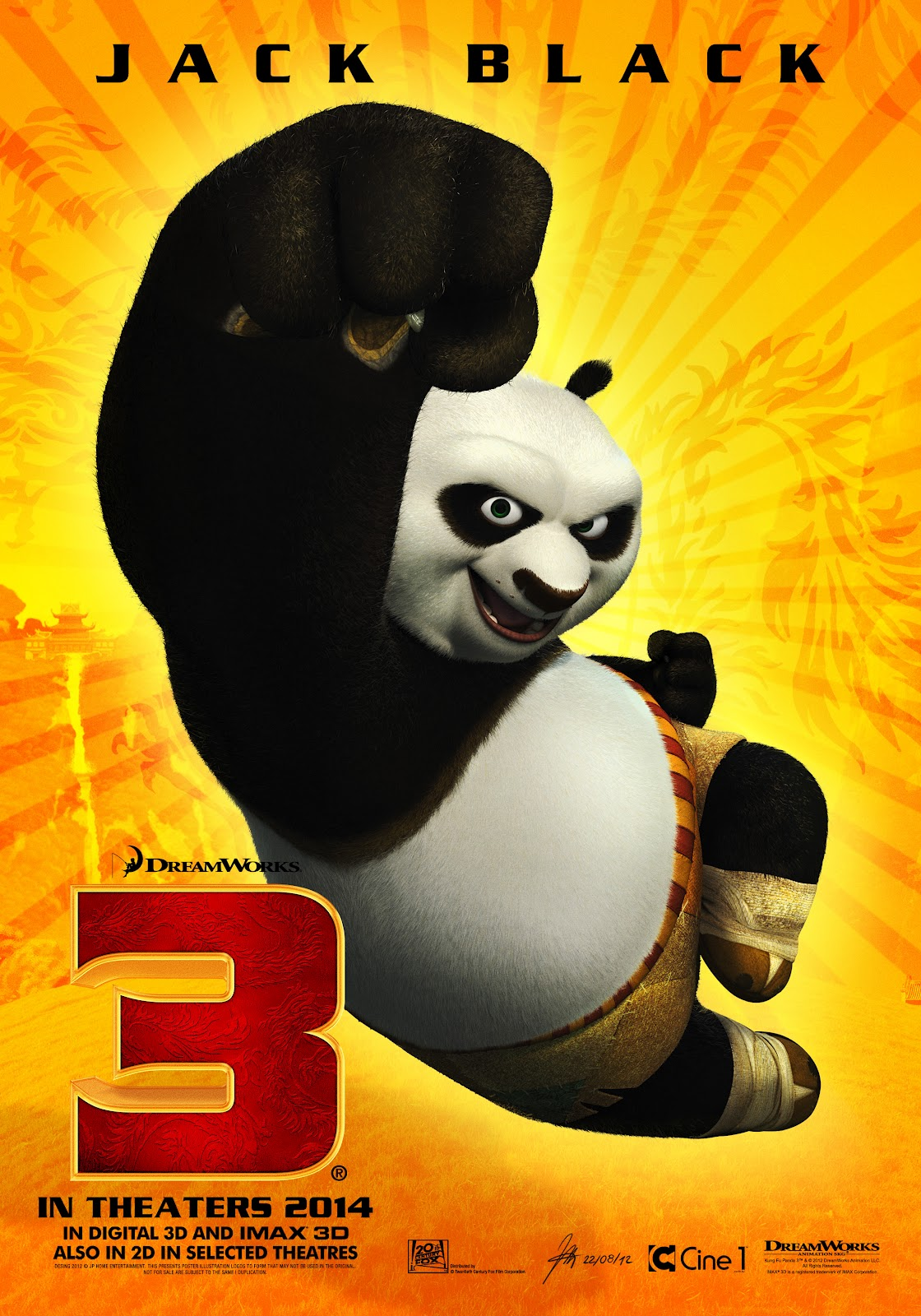 Kung Fu Panda 3 Movie First Animated 1st Look Poster Released