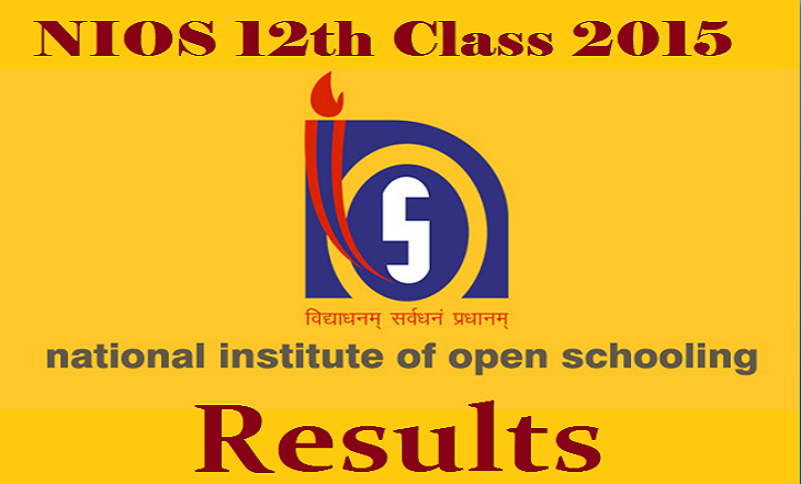 NIOS Senior Secondary Exam 12th Class Result 2015 Released nios.ac.in