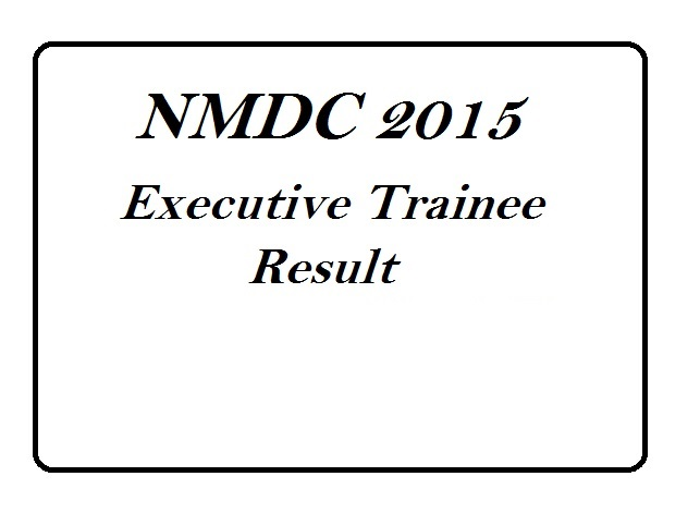 NMDC Executive Trainee Results 2015