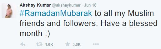 Ramadan Mubarak Wishes From Bollywood Celebrities SRK Akshay Kumar