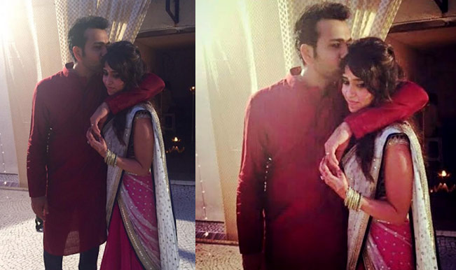 Rohit Sharma Ritika Sajdeh Engagement Pictures