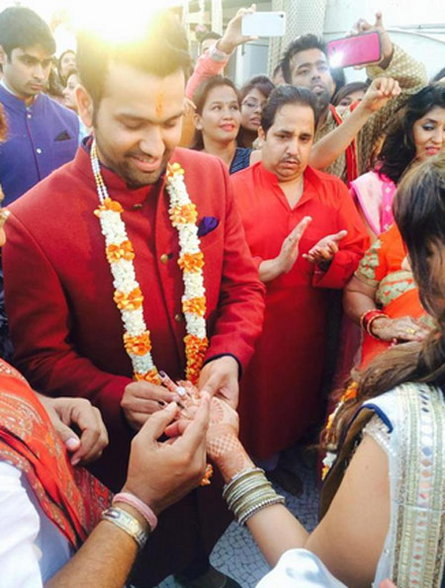 Rohit Sharma Ritika Sajdeh Engagement Images
