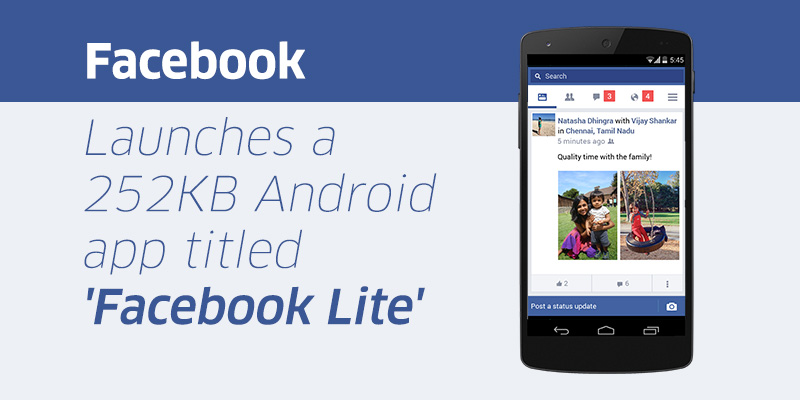 Facebook Lite App For Low-End Android Devices Smartphones