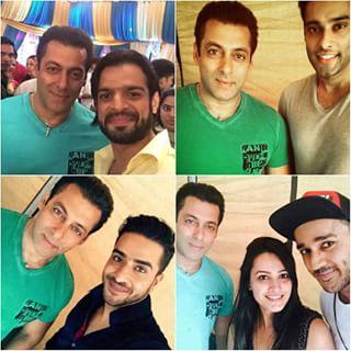 "Bajrangi Bhaijaan Salman Khan On Star's ""yeh hai mohabbatein"" set"