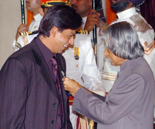Shahrukh Khan & A P J Abdul Kalam shown to user