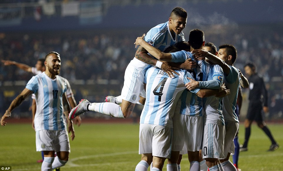 Argentina defeated Paraguay